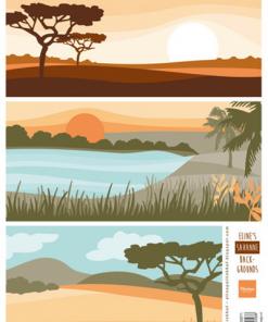 Blandet / Savanne baggrund / Marianne Design
