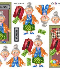 Dame / Tillykke til bedstemor / Hm Design