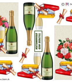 Blandet / Champagne & Blomster / Hm Design