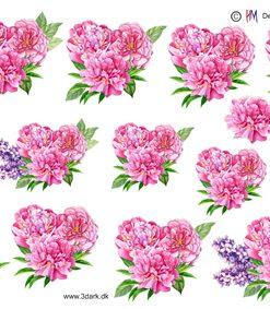 Blomster / Lyserøde sommerblomster / Hm Design