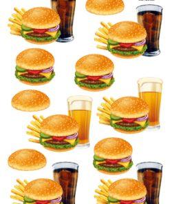 Blandet / Burger med fritter & cola / Hm Easy