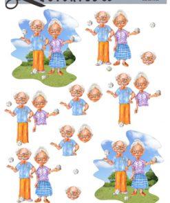 Blandet / Ældre som spiller petanque / Quickies