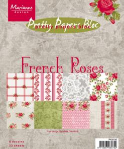 Kartonblok / French Roses / Marianne Design