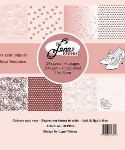 Papirblok / Rosa Romance / By Lene