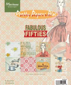 Kartonblok / Fabulous fifties / Marianne Design