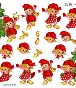 Jul / Nissebørn og juletræ / Hm design