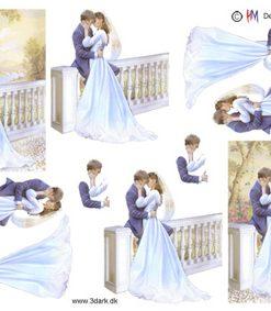 Begivenhed / Brudepar på terrasse / Hm design