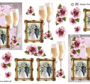 Begivenhed / Ramme med brudepar / Hm Design