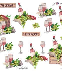 Blandet / Rosevin, glas & vindruer / Hm Design