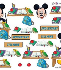 Børn / Mickey, skolestart / Hm Design