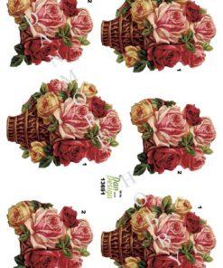 Blomster / Roser i kurv / Dan-Design