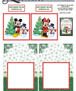 Jul / Mickey & Minnie med snemand / Quickies