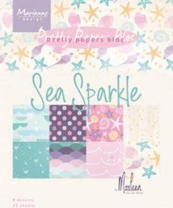 Kartonblok A5 / Sea sparkle / Marianne Design