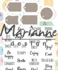 Dies & stempler / mini labels / Marianne Design