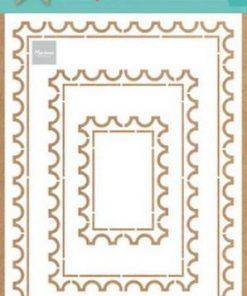 Craft stencil / postkort / Marianne Design