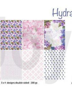 Papirblok A4 / Hortensia / Joy crafts