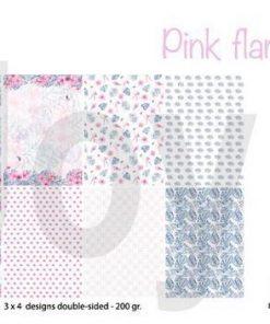 Papirblok A4 / Pink flamingo / Joy Crafts