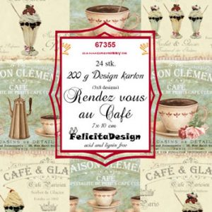Toppers, 10 x 7 cm, med kaffe / Felicita design