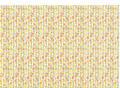 Tapet, 25 x 70 cm / Små blomster / Dukkehus