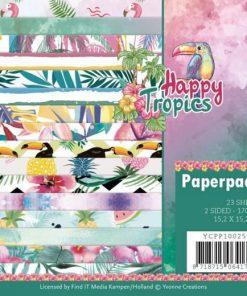 Papirblok 15 x 15 cm / Happy tropics / Yvonne Design