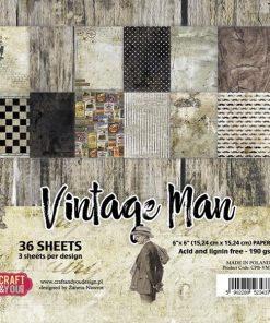 Karton 15 x 15 cm / Vintage man / Craft & you