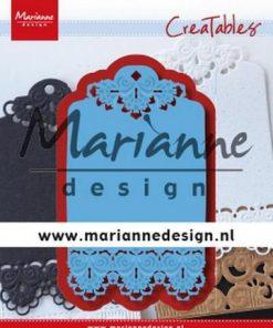 Dies / Brocante label / Marianne Design