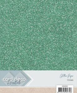 Glitter karton A4 / Ocean / 230 g, 1 ark