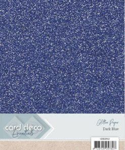 Glitter karton A4 / Mørk blå / 230 g, 1 ark