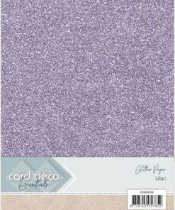 Glitter karton A4 / Lys lilla / 230 g, 1 ark