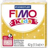 Fimo kids ler, guld, glitter / 42 g