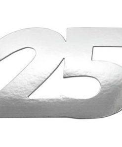 Tal 25 sølvfarvet / 105 x 70 mm / 20 stk i pose