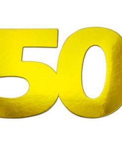 Tal 50 guldfarvet / 105 x 70 mm / 20 stk i pose