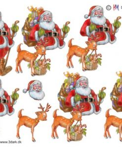 Jul / Julemand med dådyr / Hm Design