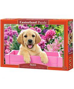Puzzlespil 500 / Hundehvalp i kasse