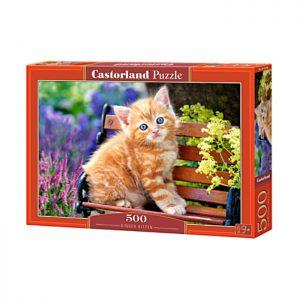 Puzzlespil 500 / Kat på bænk i haven