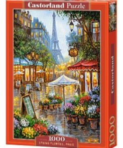 Puzzlespil 1000 / Spring flowers Paris
