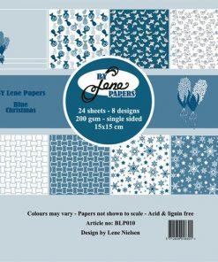 Papirblok / Blue christmas / By Lene
