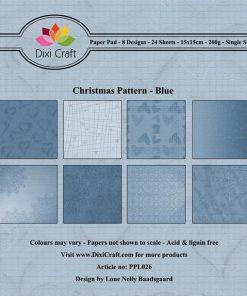 Papirblok / Blue christmas / Dixi craft