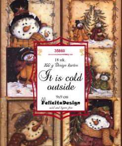 Toppers 9 x 9 cm / It's cold outside / Felicita Design