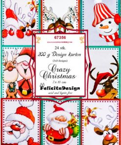 Toppers 7 x 10 cm / Crazy christmas / Felicita Design