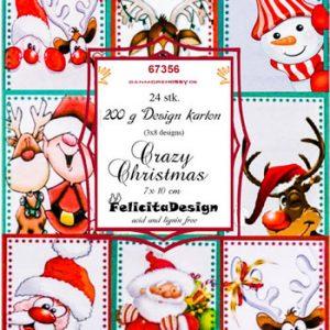 Toppers 7 x 10 cm / Crazy christmas / Felicita Design