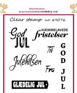 Stempel 6 stk / Juletekster / Felicita Design