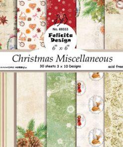 Karton 15 x 15 cm / Skøn jul / Felicita Design
