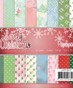 Karton 15 x 15 cm / Lovely christmas / Jeaninnes art