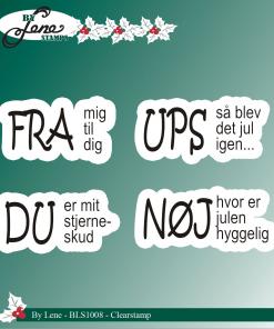 Stempel / Danske tekster / By Lene