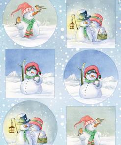 Jul / Søde snemænd / Marianne Design
