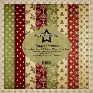 Karton 15 x 15 cm / Vintage Christmas