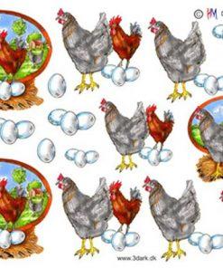 Dyr / Hane,høne & æg / Hm design