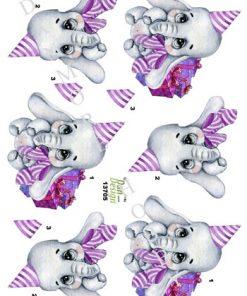 Børn / Elefant med pakker i pink / Dan-Design