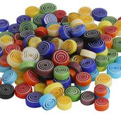 Glas mosaik, rund spiral / Ø: 9 - 12 mm